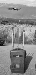 Mobile jammer with external antennas